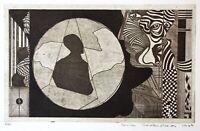 Ulf Rustan Badendieck (geb. 1942) sign. Radierung, figürliche Komposition, 1969