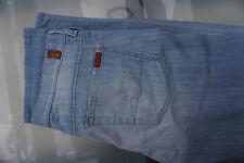 Pour Tous 7 Mankind Standard Hommes Pantalon Jeans 34/34 W34 L34 Bleu Clair Usé