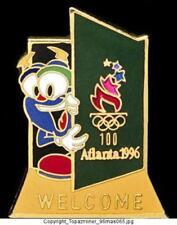 OLYMPIC PINS 1996 ATLANTA IZZY MASCOT - WELCOME DOOR