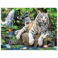 Diy 5D Diamond Painting Embroidery Rhinestones Round Full Decor Home Tiger  G9F6