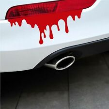 2Pcs Zombie Graphics Reflective Auto Decal Car Sticker Drip Bleeding Red Blood