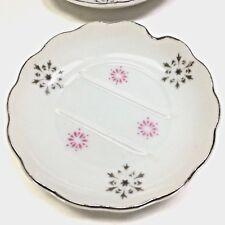 New listing Set of 4 Hospitality Ashtray True China Pink Crystalline Japan Retro Mid-Century