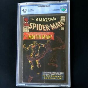 Amazing Spider-Man #28 (1965) 💥 CBCS 4.0 WHITE 💥 1st App of MOLTEN MAN! Comic