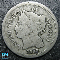 1869 3 Cent Nickel Piece  --  MAKE US AN OFFER!  #G5428