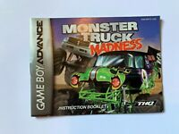 Monster Truck Madness Game Boy Advance Instruction Manual Booklet Book ONLY