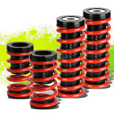 "FOR 00-05 MIT ECLIPSE 3G FRONT+REAR RACING COILOVER 1-3""LOWERING COIL SPRING RED"