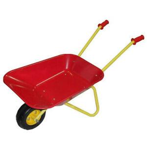 Kids Metal Wheelbarrow Kids Pretend Play Gardening Toy