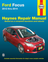 Shop Manual Ford Focus 2012 Thru 2014 Does Not Include Electric Service Repair