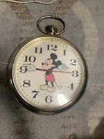 Mickey Mouse Wall Clock Welby Elgin Walt Disney Prod Pocket Watch Not TestedRARE