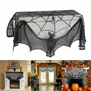 Halloween Black Bat Stove Towel Pelmet Kitchen Living Room Tablecloth Short Door