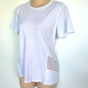 LULULEMON White Short Sleeve Mesh Athletic Top Size M L X55