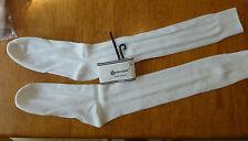 Vintage School Girl Cable Knit Socks Knee High Ivory Long 9-11 Superspun USA NWT