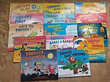 Lot 14 FROGGY Jonathan London Children Books Halloween  Christmas Puppy Hawaii