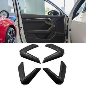 Carbon Fiber Printed Interior Door Handles Cover Trim for Audi A3 8Y 2020 2021