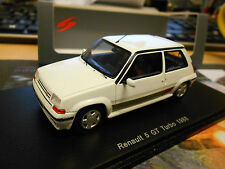 RENAULT 5 GT Turbo 1988 weiss white Spark Resin Highenddetail 1:43