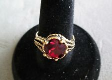 """VINTAGE AVON**SIZE 10"""" FACETED ILLUSIONS  RING**NEW NO ORIGINAL BOX**GOLD-TONE"""