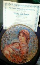 Edna Hibel (1917-2014) Plate - Molly and Annie - Mother's Day, Royal Gold Series