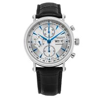 Alexander Men's ETA Valjoux 7750 Swiss Chronograph Stainless Steel Leather Watch