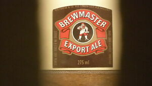 OLD BRITISH BEER LABEL, WHITBREAD BREWERY LONDON ENGLAND, BREWMASTER
