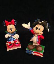 Jim Shore Disney Traditions, Patriotic Mickey and Minnie Colonial America Set!