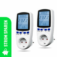 X4-LIFE Energiekostenmessgerät Stromzähler für Steckdose Stromkosten - 2er Set