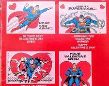 Vtg Superman Valentines Day Cards Unused Unopened Box American Greetings