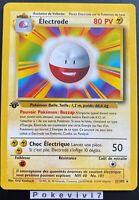 Carte Pokemon ELECTRODE 21/102 Rare Set de Base Wizard Edition 1 FR