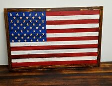 American Flag Wooden **Hand Carved Stars**