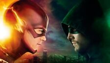 THE GREEN ARROW AND FLASH DC COMICS TV SHOW WALL ART CANVAS PICTURE PRINT 20X30""