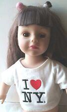 "Madame Alexander 18""  Doll Brown Eyes & Long Hair with Bangs"