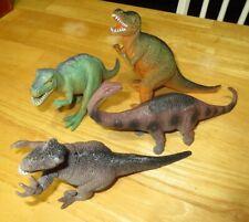 "Dinosaur Figure Toy Lot Boley Action Figures T-Rex Velociraptor Apatosaurus 8-9"""