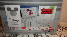 Disney Jumping Beans Full Mickey Mouse Sports Flannel Sheet Set NEW in Packaging