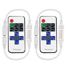 Dos controles remotos inalámbricos de RF PARA Tira LED Regulable Iluminación de un solo color