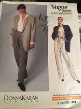 VOGUE Sewing Pattern 2391 Donna Karan Shirt Jacket Pants Size 6-8-10 UNCUT