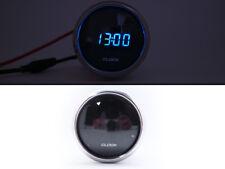 Small Clock Battery Powered 12v Digital Clock For Car Dash Gauge Black LED 52mm