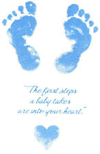 Ceramic Decals Blue or Pink Baby Footprints Graphic