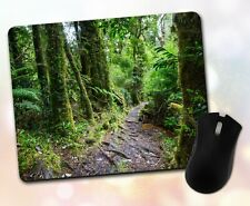 Pathway Forest Mouse Pad • Green Forest With Pathway Gift Decor Desk Accessory
