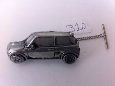 Mini Cooper ref310 Pewter Effect 3D Car Tack Tie Pin With Chain