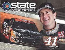 """2015 KURT BUSCH """"STATE WATER HEATER CHEVY SS"""" #41 NASCAR SPRINT CUP POSTCARD"""