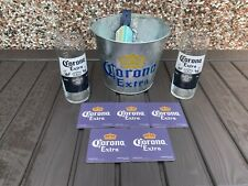 More details for corona extra  beer gift set- 1 ice bucket , 2 pint glasses, & 5 beer coasters