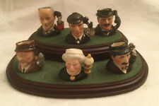 Vge Royal Doulton Sherlock Holmes Tinies Collection Set of 6 Tiny Toby Jugs Ltd