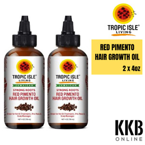 Tropic Isle Living Strong Roots Red Pimento Hair Growth 118ml (4oz)-glass Bottle
