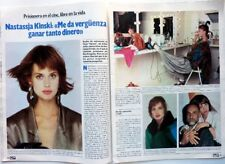 NASTASSJA KINSKI => 3 pages 1985 SPANISH CLIPPING