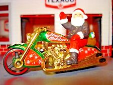 SANTA'S SCOOTER HOLIDAY MOTORCYCLE LIMITED EDITION 1/64 HARLEY HW MY COLLECTION