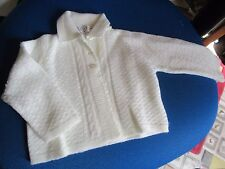Vintage Babies Bairns Wear Pure new wool pram coat / cardigan. Coach built pram.
