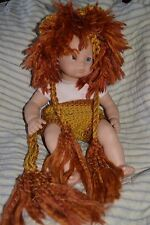 BABY LION adorable NEWBORN crochet HANDMADE photo prop POM POM HAT and BOTTOM