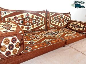brown color,oriental seating sofa,arabic floor sofa,hookah bar furniture - MA 29
