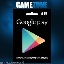 $15 Google PLAY Store USA Gift Card - 15 Dollar Google Play Android USD Code