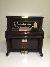 Nice Kings Piano Musical Box Plays Music Begin With Jewelry compartments