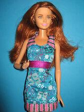 B287-rousse barbie Mattel 2010 avec Posen-geste au Disco-Robe + Haut Chaussures